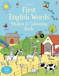 First English Words Sticker and Colouring Book - купить и читать книгу