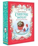 Children's Christmas Baking Kit with 4 festive cookie cutters and 48 colourful cupcake cases