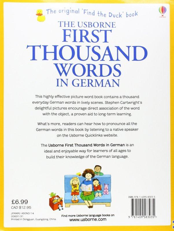 "Купить книгу ""First Thousand Words in German"""