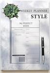 Щотижневик з відривними листами LifeFLUX Weekly My perfect week Стильний (LFWEEPBW015)