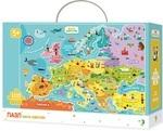 Пазл. Dodo. Мапа Європи. 100 елементів (300129) - купить онлайн
