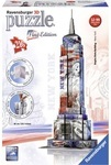 3D Пазл. Ravensburger. Empire State Building Flag Edition. 216 элементов (RSV-125838)