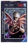 Пазл. Ravensburger. Девушка с драконом. 500 элементов (RSV-146437)