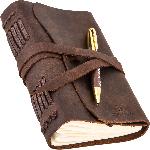 Блокнот шкіряний COMFY STRAP в лінію з ручкою (коричневий, ручна робота, з коробкою) - купити і читати книгу