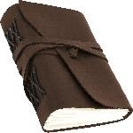 Блокнот шкіряний COMFY STRAP в лінію (коричневий, ручна робота, без коробки) - купити і читати книгу