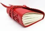 """Купить книгу """"Кожаный блокнот COMFY STRAP женский в линию (красный, ручная работа)"""""""