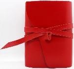Шкіряний блокнот COMFY STRAP жіночий в лінію (червоний, ручна робота) - купити і читати книгу