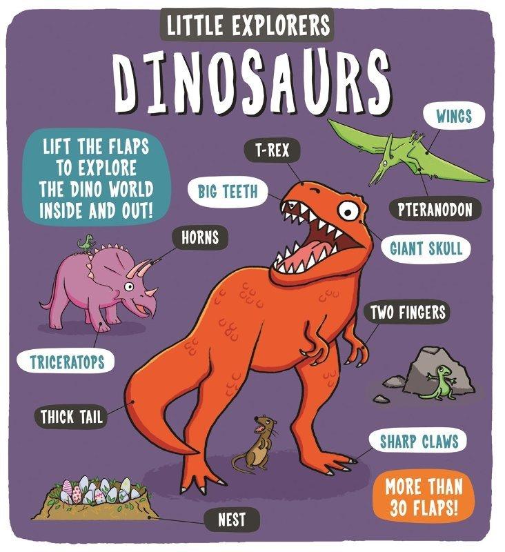 "Купить книгу ""Little Explorers: Dinosaurs"""