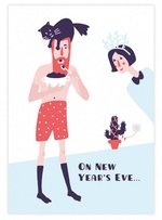 """Купить книгу """"Открытка с кроссвордом Gifty On new year's Eve. He ( AA-0003648)"""""""