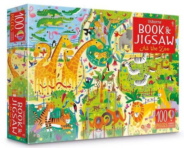 """Купить книгу """"At The Zoo Book and Jigsaw"""""""