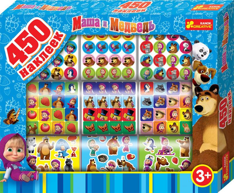 "Купить ""Набір наліпок. Ranok-Creative. Маша і ведмідь. 450 шт (13105072Р)"""