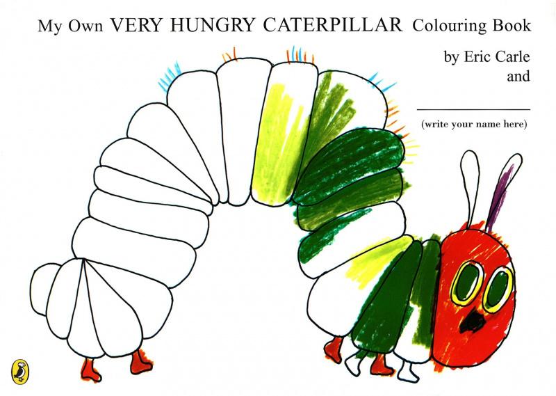 "Купить книгу ""My Own Very Hungry Caterpillar Colouring Book"""