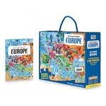Travel, Learn and Explore: Europe Book and Puzzle