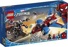 Конструктор LEGO Реактивный самолёт Человека-Паука против Робота Венома (76150)