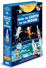 Travel, Learn and Explore: From the Earth to the Moon Book and Puzzle