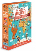Travel, Learn and Explore: The World of Ancient Civilisations Book and Puzzle