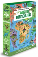 Travel, Learn and Explore: The World of Dinosaurs Book and Puzzle