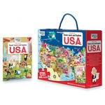 Travel, Learn and Explore: USA Book and Puzzle