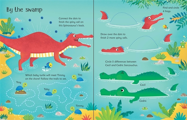 "Купить книгу ""Wipe-Clean Dinosaur Activities"""