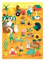 Пазлы для детей с английскими словами: Ферма (30 слов)