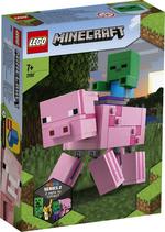 Конструктор LEGO Большие фигурки Minecraft, Свинья и Зомби-ребёнок (21157)