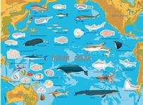 """Купить книгу """"Атлас океанів з багаторазовими наліпками"""""""