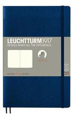 Блокнот Leuchtturm1917 Paperback Темно-синій Чисті аркуші (358319)