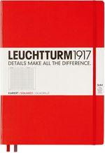 Блокнот Leuchtturm1917 MasterSlim Червоний Клітинка (340936)