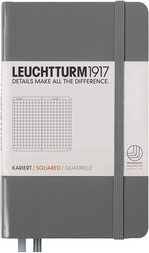 Блокнот Leuchtturm1917 Кишеньковий Антрацит Клітинка (344777)