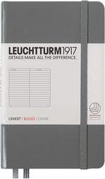Блокнот Leuchtturm1917 Кишеньковий Антрацит Лінія (344775)