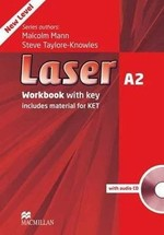 Laser 3rd Edition A2 Workbook with key and audio CD