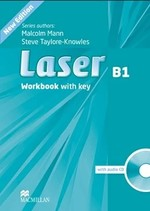Laser 3rd Edition B1 Workbook with key and audio CD