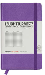 Блокнот Leuchtturm1917 Карманный Лаванда Клетка (338748)