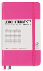 Блокнот Leuchtturm1917 Карманный Розовый Клетка (339593)