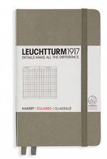 Блокнот Leuchtturm1917 Карманный Серо-Коричневый Клетка (339591)