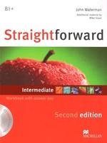 Straightforward Second Edition Intermediate Workbook with key and Audio-CD