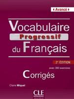 Vocabulaire Progressif du Français 2e Édition Avancé Corrigés