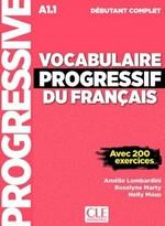 Vocabulaire Progressif du Français Débutant Complet Livre avec CD audio