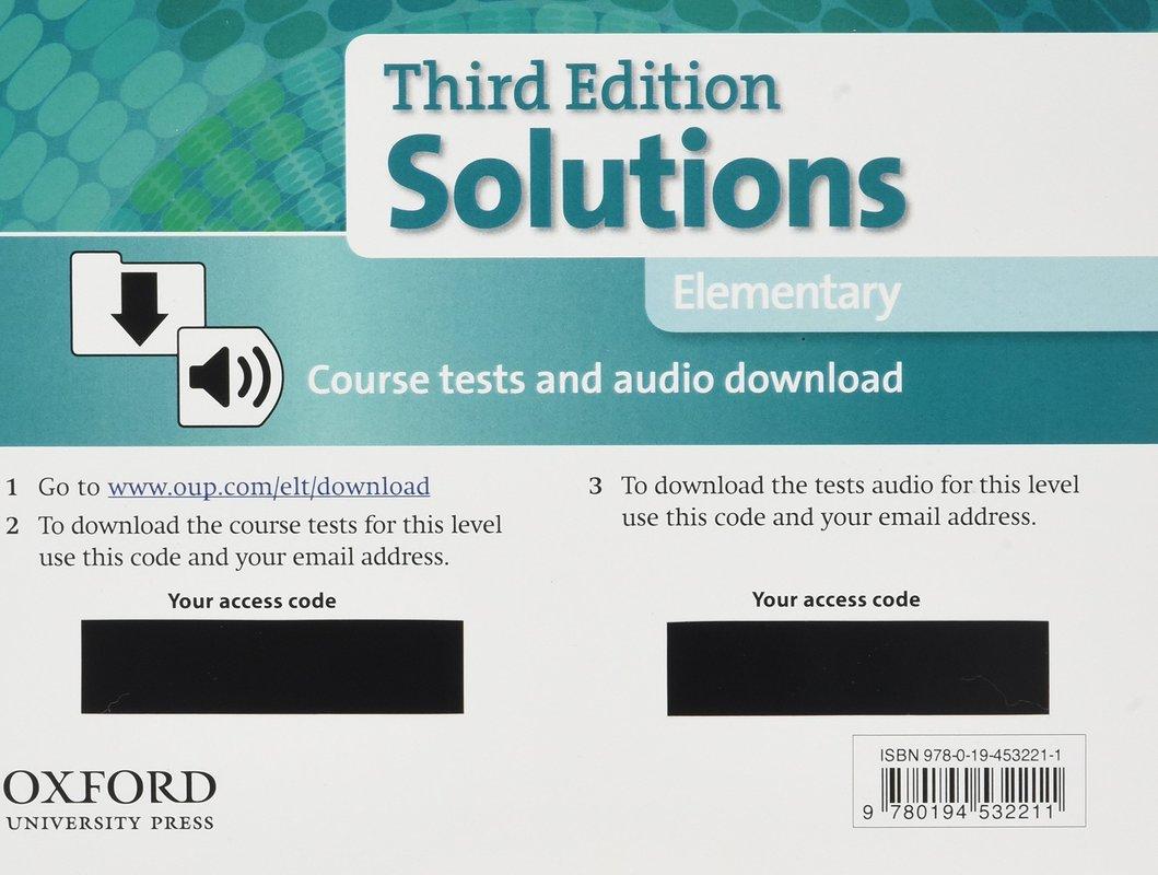 "Купить книгу ""Solutions: Elementary: Course Tests Pack"""
