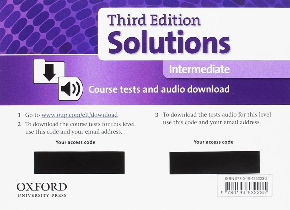 "Купить книгу ""Solutions 3e Intermediate Course Tests Pack"""