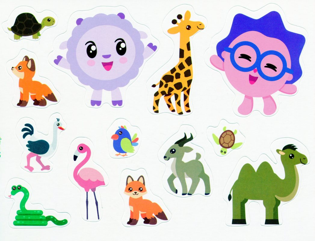 Зоопарк. Багаторазові наліпки - купить и читать книгу