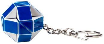 Мини-головоломка Rubik's Змейка бело-голубая с кольцом (RK-000146) - купить онлайн