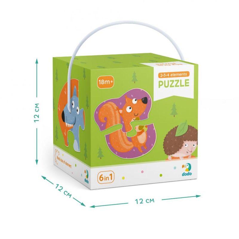 """Купить """"Пазл. Dodo. 2-3-4 елементи. Лісові тварини (300195)"""""""