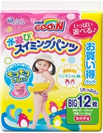 Подгузники-трусики для плавания Goo.N для девочек, 12-20 кг, 12 шт. (853668) - купить онлайн