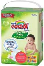 Подгузники-трусики Goo.N Cheerful Baby для детей, 6-11 кг, 54 шт. (843284) - купить онлайн