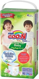Подгузники-трусики Goo.N Cheerful Baby для детей, 11-18 кг, 42 шт. (843286) - купить онлайн