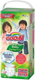 Подгузники-трусики Goo.N Cheerful Baby для детей, 15-25 кг, 34 шт. (843287) - купить онлайн